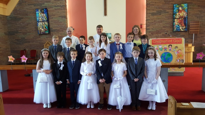 First Holy Communion April 23rd. Congratulations to all the boys and girls